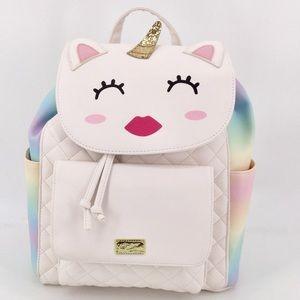 BETSEY JOHNSON Unicorn Backpack Ombré Rainbow Rare